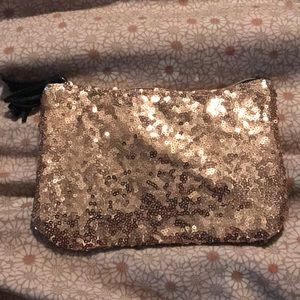 Ipsy gold sequin makeup bag